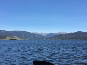 Lake Granby looking towards the Indian Peaks Range